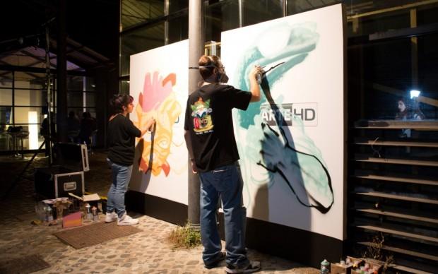 Street-artists in azione