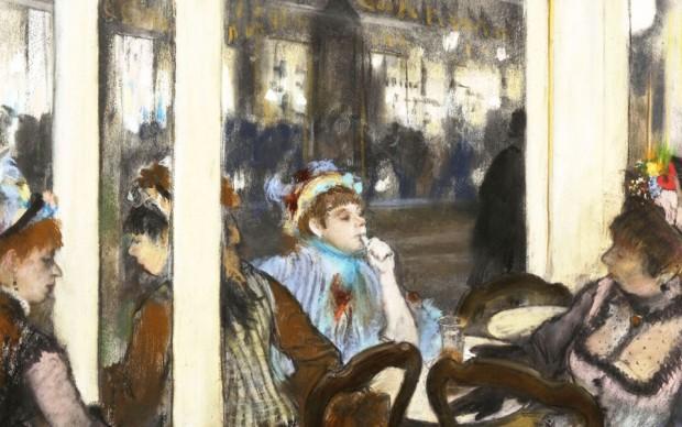 Edgar Degas, Donne fuori da un caffé la sera, 1877 - courtesy Musée d'Orsay