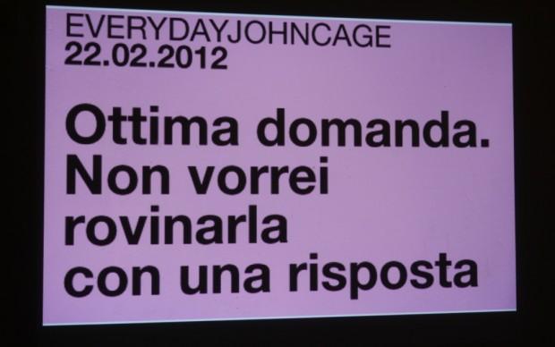 Messaggio da parte di John Cage
