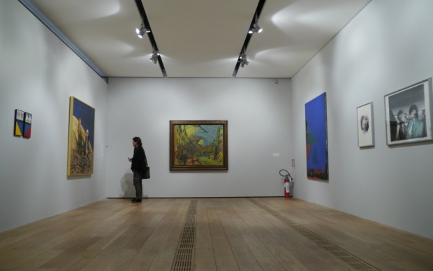 Nelle sale della Pinacoteca Agnelli
