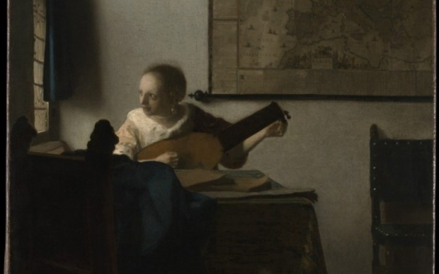 Vermeer, Suonatrice di Liuto