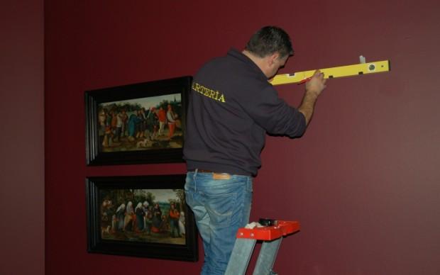 Brueghel in mostra a Roma - il posizionamento delle opere 2