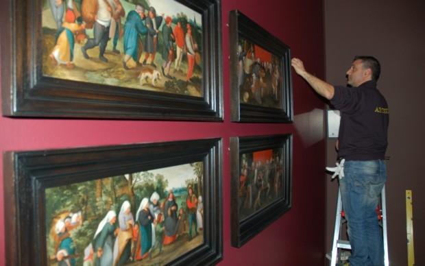 Brueghel in mostra a Roma - l'allestimento 2