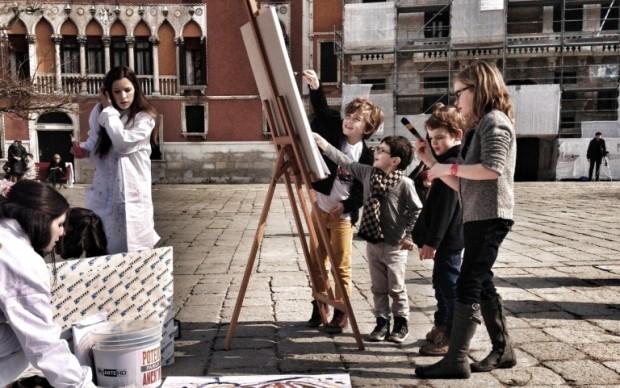 Piccoli artisti al lavoro