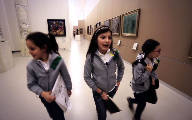 Nei corridoi del museo