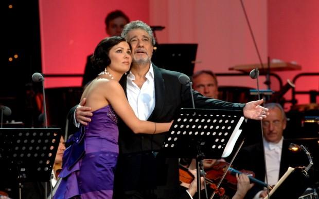 Placido Domingo con Anna Netrebko - copyright DEAG Classics - Franz Schlechter