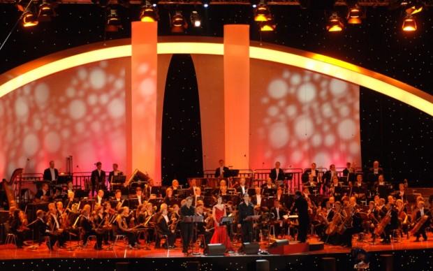 Sul palco del Waldbühne - copyright DEAG Classics - Franz Schlechter