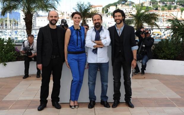 Berenice Bejo con il cast di The Past