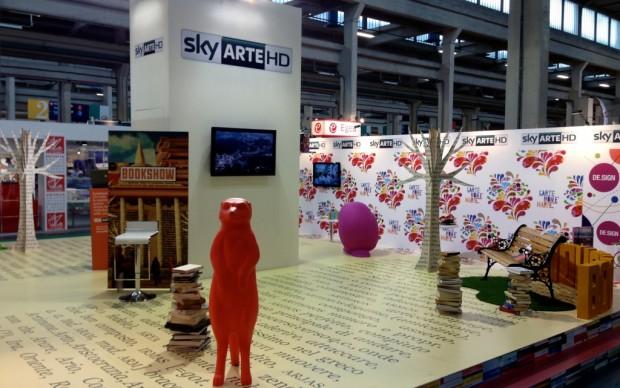 Lo stand Sky Arte al Salone del Libro