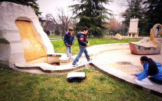 Nel parco della Triennale