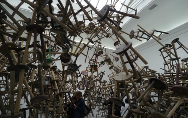 Padiglione Germania, le sedie di Ai Weiwei