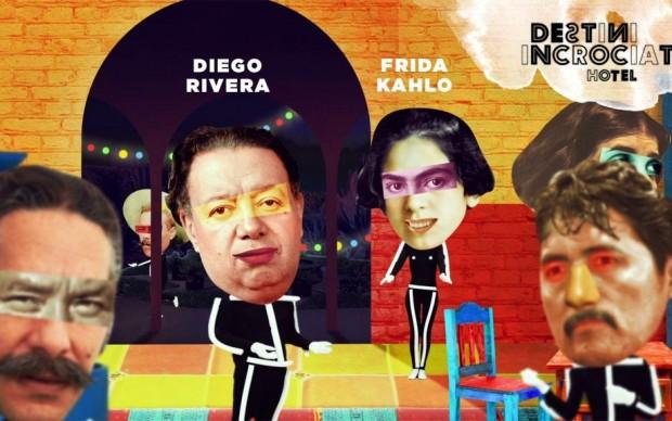 Frida Kahlo e Diego Rivera alla festa in casa Modotti