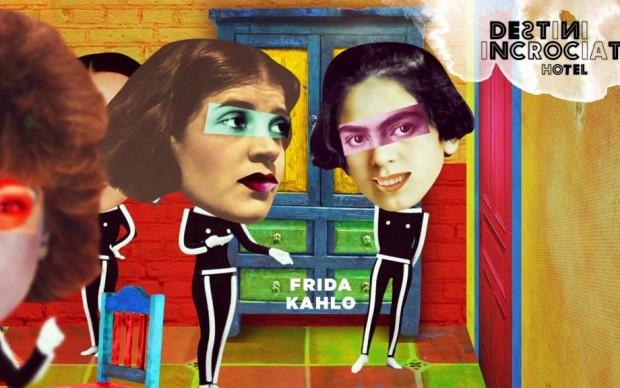 Frida Kahlo e Tina Modotti alla festa in cui Frida incontra Diego Rivera