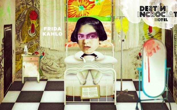 Frida in ospedale dopo l'incidente che la costringerà a letto per oltre sei mesi