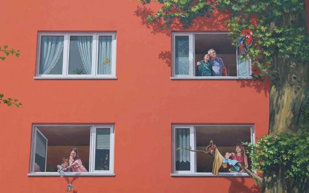 Un dettaglio del murale - copyright Klaus Dombrowski Foto Design