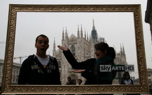Sky Arte HD in piazza Duomo a Milano