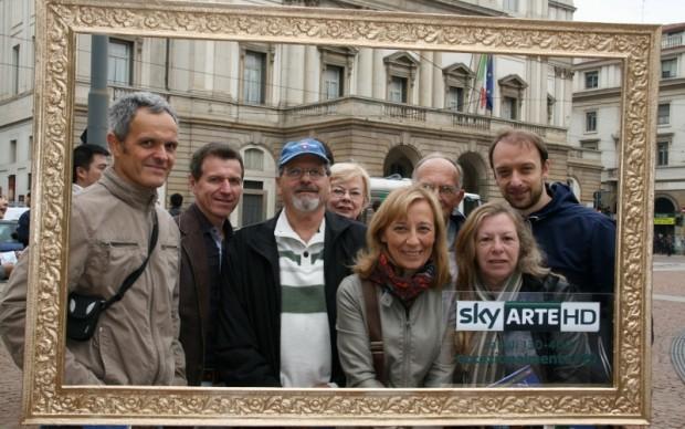 Sky Arte HD in piazza della Scala a Milano