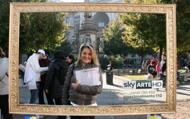 Sky Arte HD in piazza dela Scala