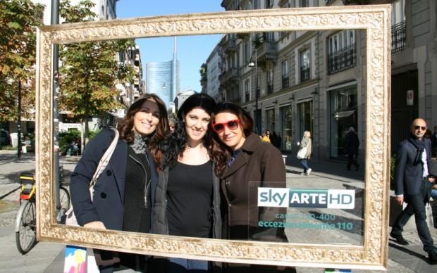 Milano, Via Solferino. Sullo sfondo la Unicredit Tower