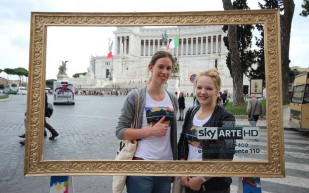Roma, il Vittoriano inquadrato da Sky Arte HD