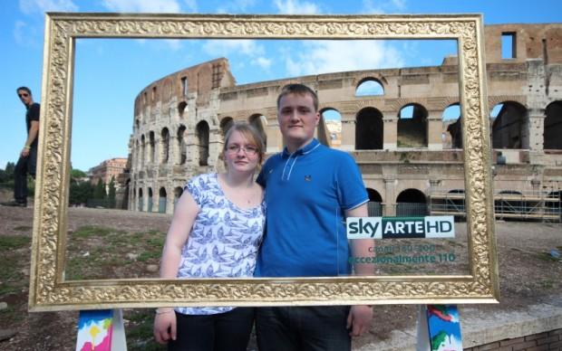 Roma, Sky Arte HD davanti al Colosseo