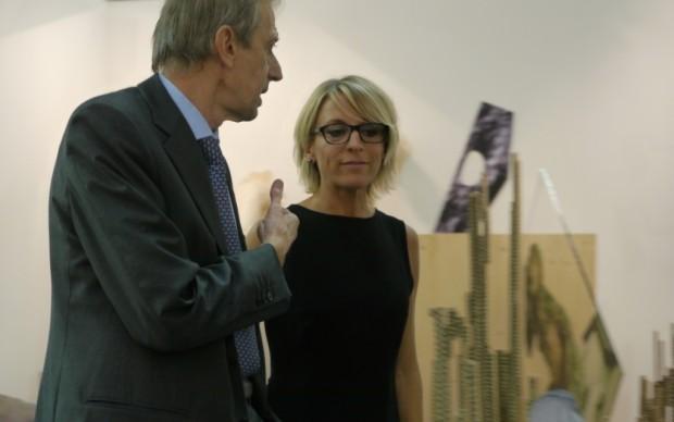 La direttrice di Artissima Sarah Cosulich Canarutto con il sindaco di Torino Piero Fassino