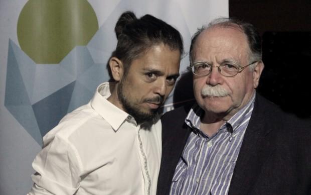 Gli scrittori Flavio Soriga e Walter Siti - foto Gianfranco Manai