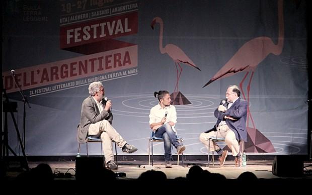 Francesco Piccolo, Flavio Soriga, Walter Siti - foto Gianfranco Manai
