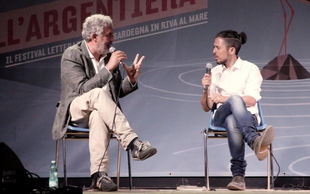 Gli scrittori Francesco Piccolo e Flavio Soriga - foto Gianfranco Manai