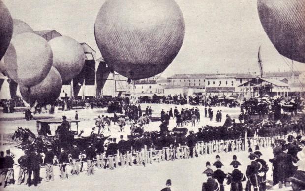 Il Parco Aerostatico all'esposizione universale di Milano - 1906