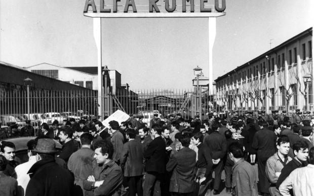 Sciopero al Portello Alfa Romeo - 1966 - Archivio del Lavoro