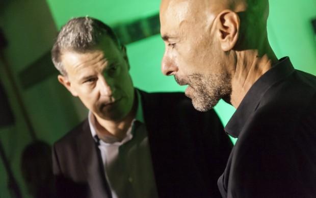 Alessio Bertallot con il direttore di Sky Arte Roberto Pisoni