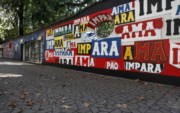 Il murale di Pao ispirato a Bruno Munari