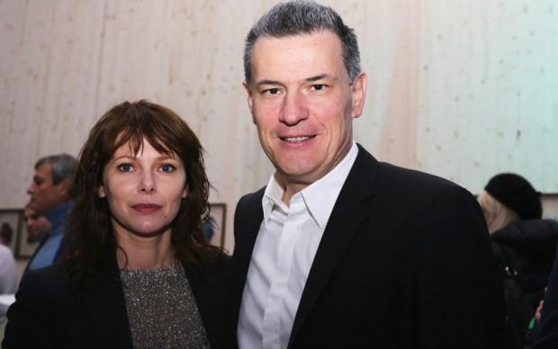 Barbara Bobulova con il diettore di Sky Arte Roberto Pisoni