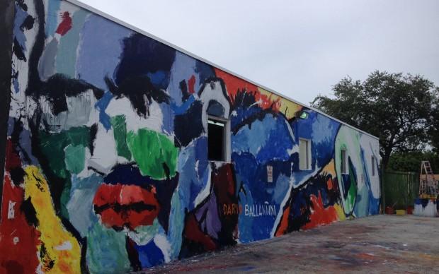 Il murale di Dario Ballantini