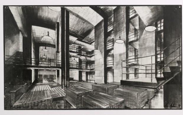 Il bozzetto di Ken Adam per Fort Knox  ©1964 Danjaq, LLC and United Artists Corporation