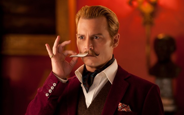 Johnny Depp nel film Mortdecai