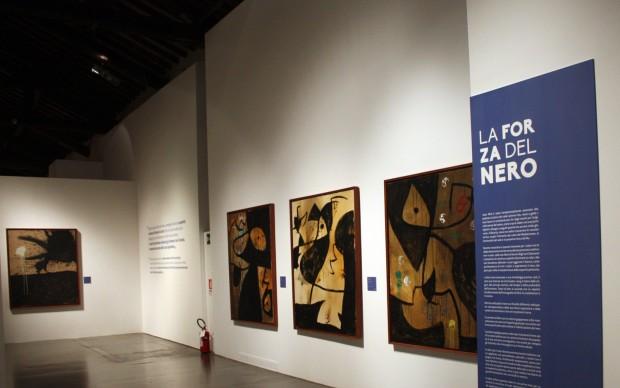 """Mostra """"Mirò. L'impulso creativo"""", dettaglio dell'allestimento. Mantova, 2014-15. Foto: © Stefania Coltro"""