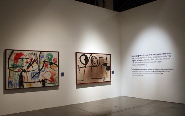 """Mostra """"Mirò. L'impulso creativo"""", dettaglio dell'allestimento. Mantova, 2014-15. Foto: © Stefania Coltro."""