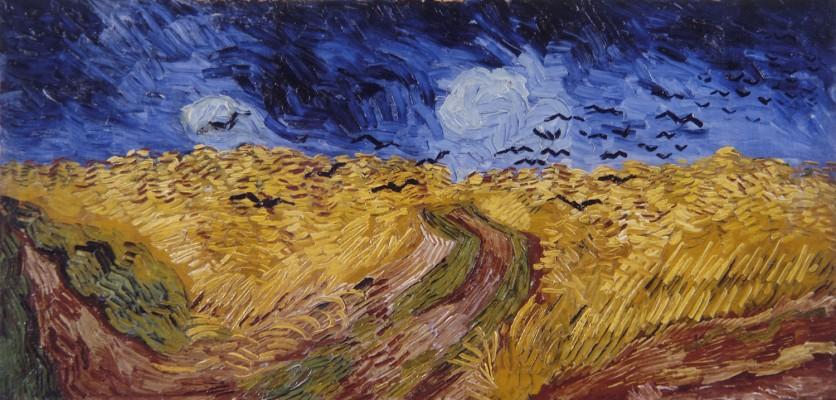 Van Gogh, Campo di grano con corvi