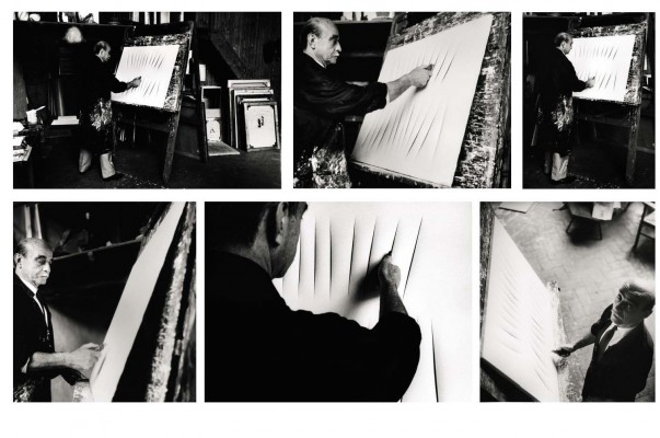 Harry Shunk fotografa Lucio Fontana