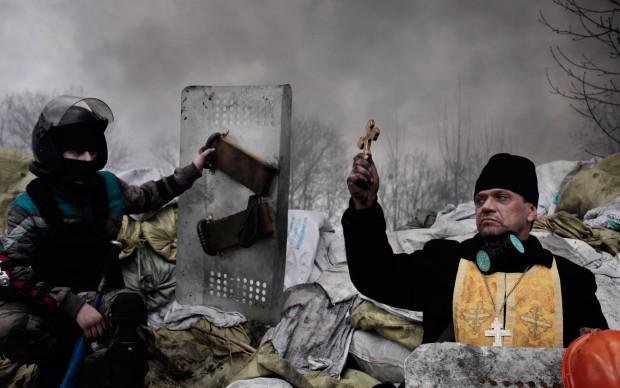 Jérôme Sessini/Magnum Photos per De Standaard, Scontri a Kiev, Ucraina