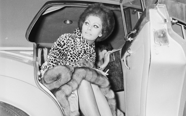 Sophia Loren a Londra, 1966