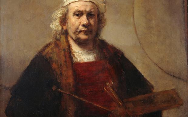 Rembrandt van Rijn, Autoritratto con due cerchi, 1665. Kenwood House, Londra