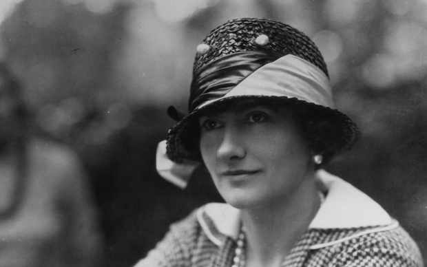 Gabrielle Chanel, known as Coco (1883 - 1971), top French couturier, at Fauborg, St Honore, Paris.   (Photo by Sasha/Getty Images)