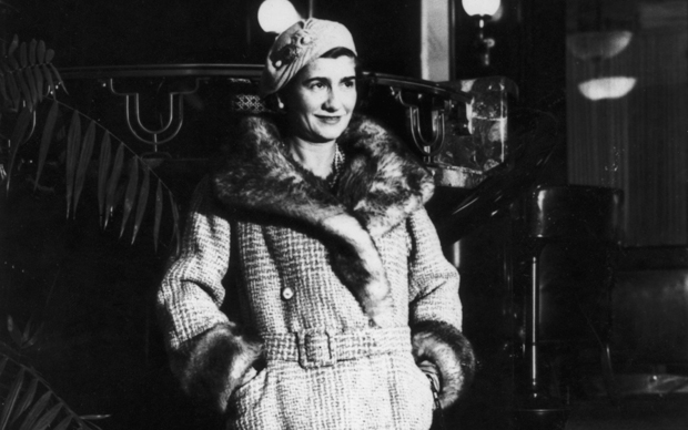 French fashion designer Gabrielle 'Coco' Chanel (1883 - 1971) in New York City, 1932. (Photo by Keystone/Hulton Archive/Getty Images)