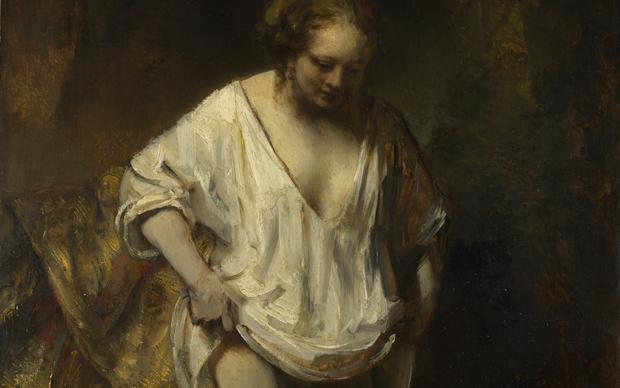 Rembrandt van Rijn, Giovane donna al bagno in un ruscello. National Gallery, Londra