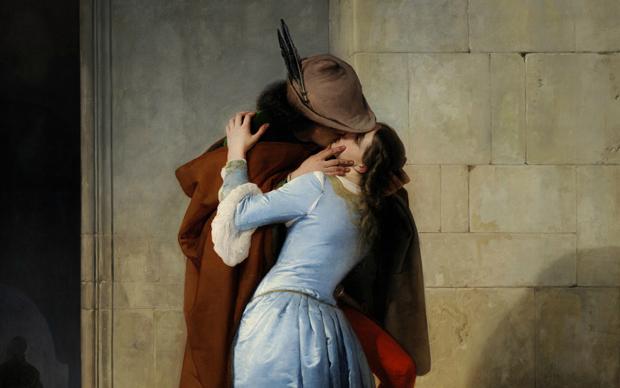 Francesco Hayez, Il bacio, 1859, olio su tela