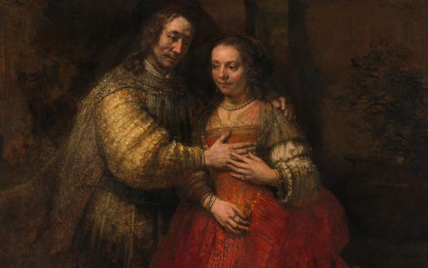 Rembrandt van Rijn, La sposa ebrea, 1665-1669, olio su tela. Rijksmuseum