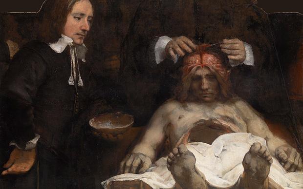 Rembrandt van Rijn, Lezione di anatomia del Dottor Deyman, 1656. Amsterdam Museum